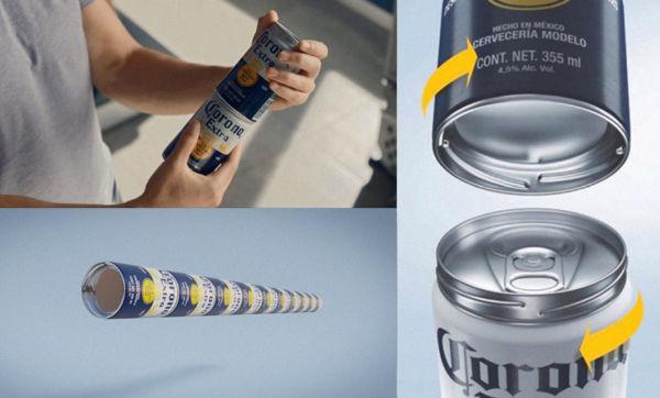 Latas atornillables de Corona para evitar los anillos de plástico