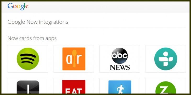 Google Now se amplía con 70 nuevas asociaciones