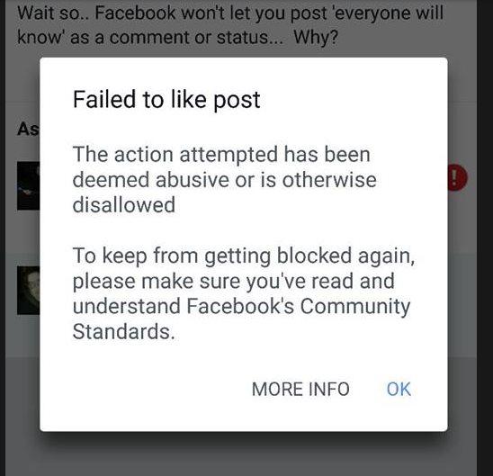 Esta es la frase que está prohibida en Facebook