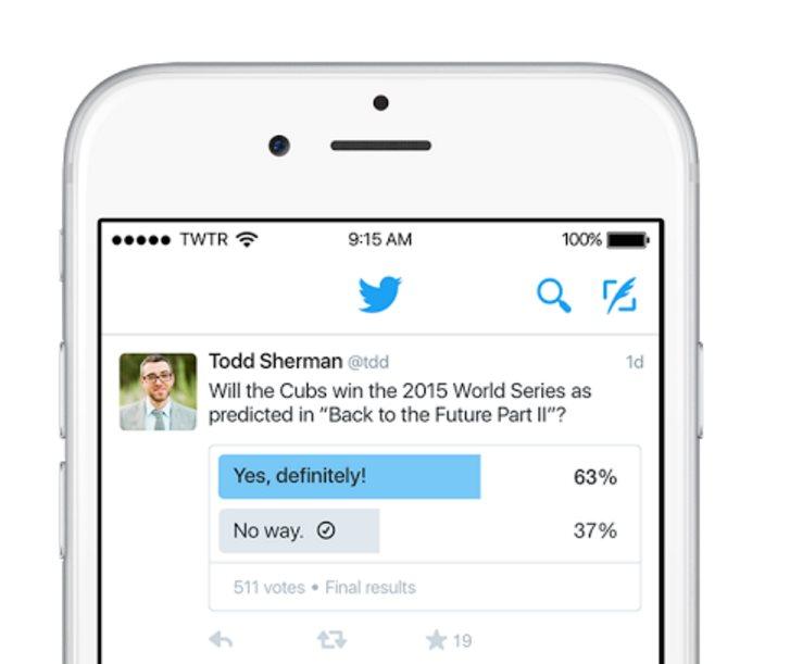 Twitter presenta oficialmente su sistema para hacer encuestas