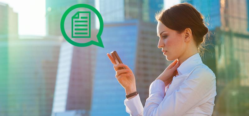 La función de enviar documentos llegaría pronto a WhatsApp