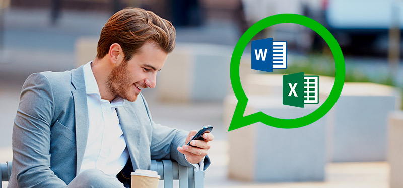 Además de PDF envía documentos Word y Excel por WhastApp